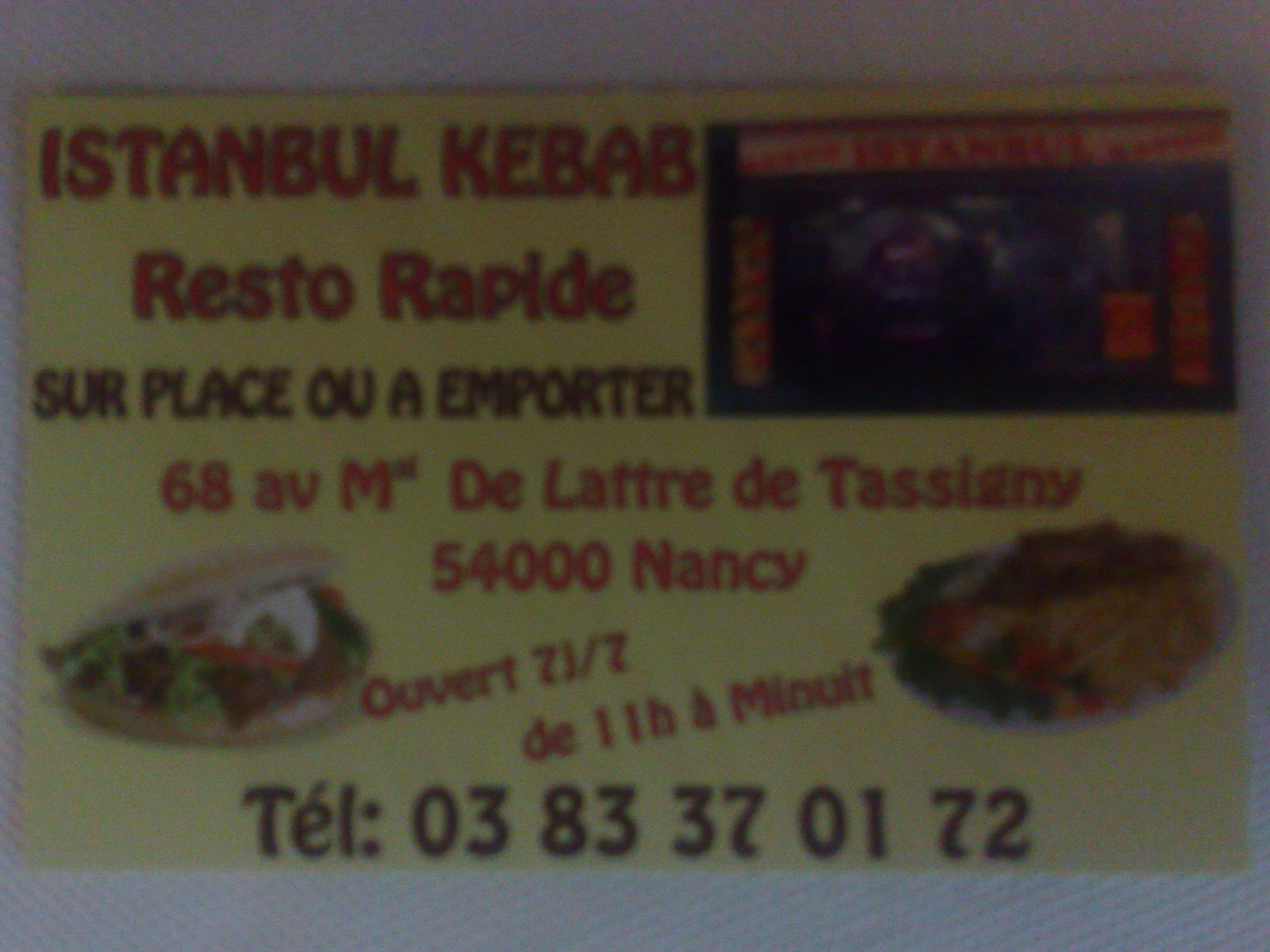 Resto Rapide Istanbul Nancy