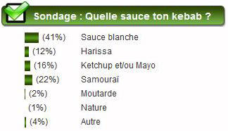 sondage sauce kebab