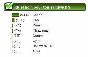 sondage kebab grec frites