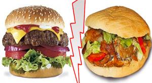 Le Kebab cale plus qu'un hamburger