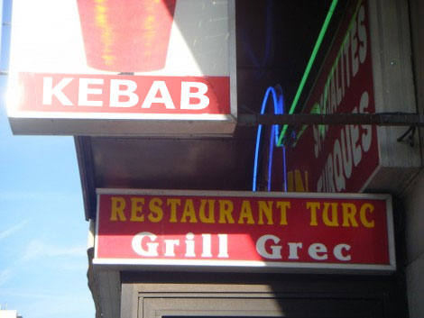 Kebab en province, Grec à Paris