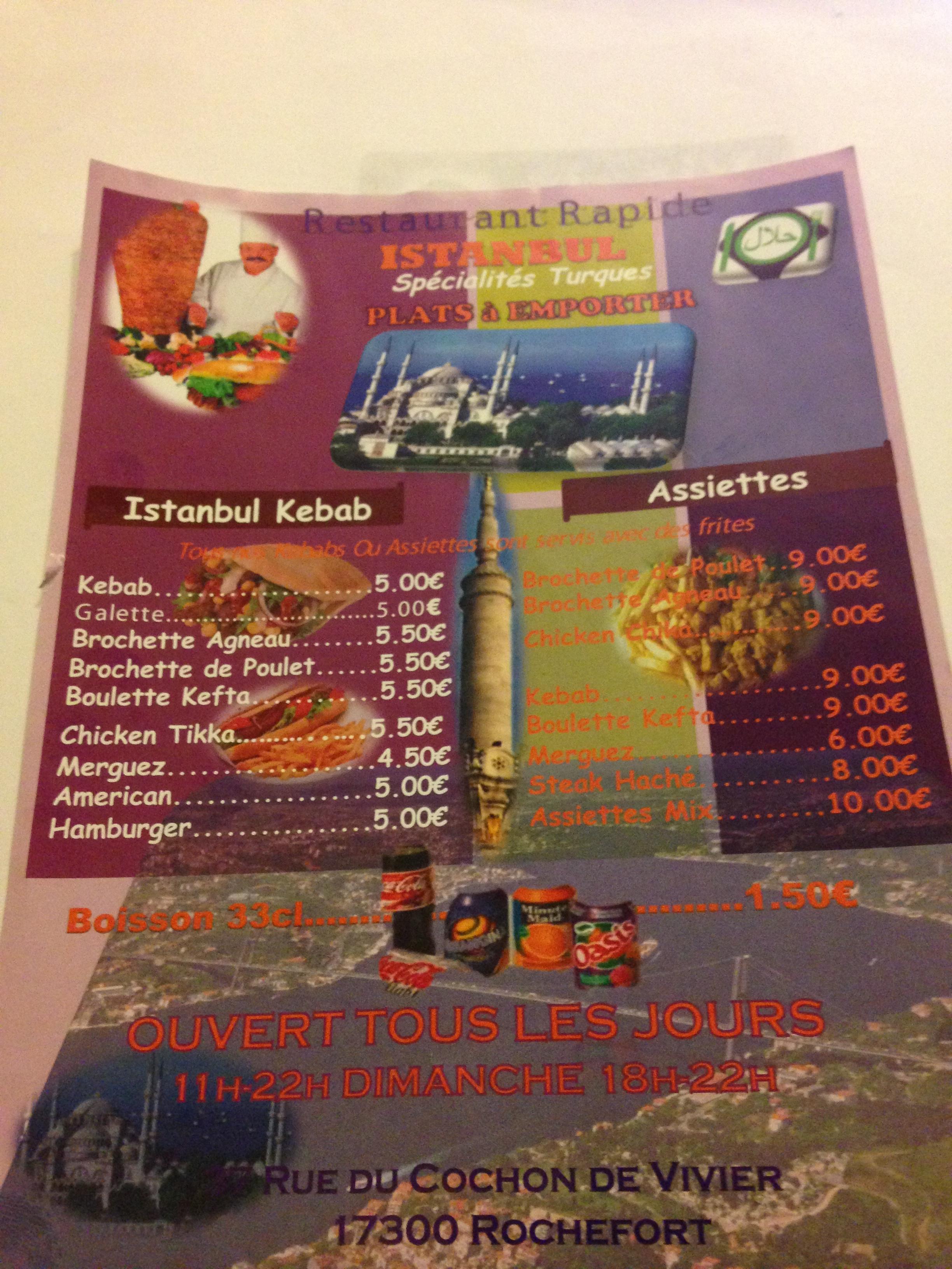 Istanbul Retaurant Rapide à Rochefort