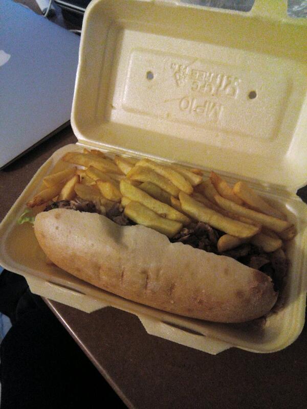 Sandwich grec - frites - La Turquoise à Paris