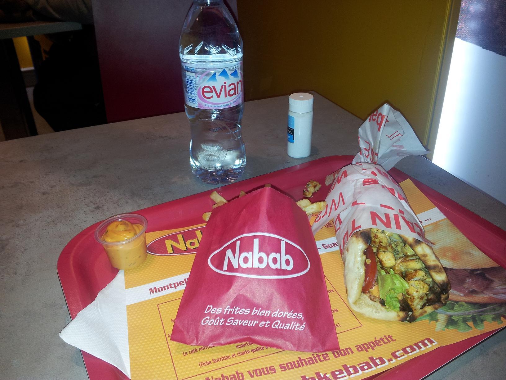 Naan cheese chick'N - Nabab Kebab à Paris