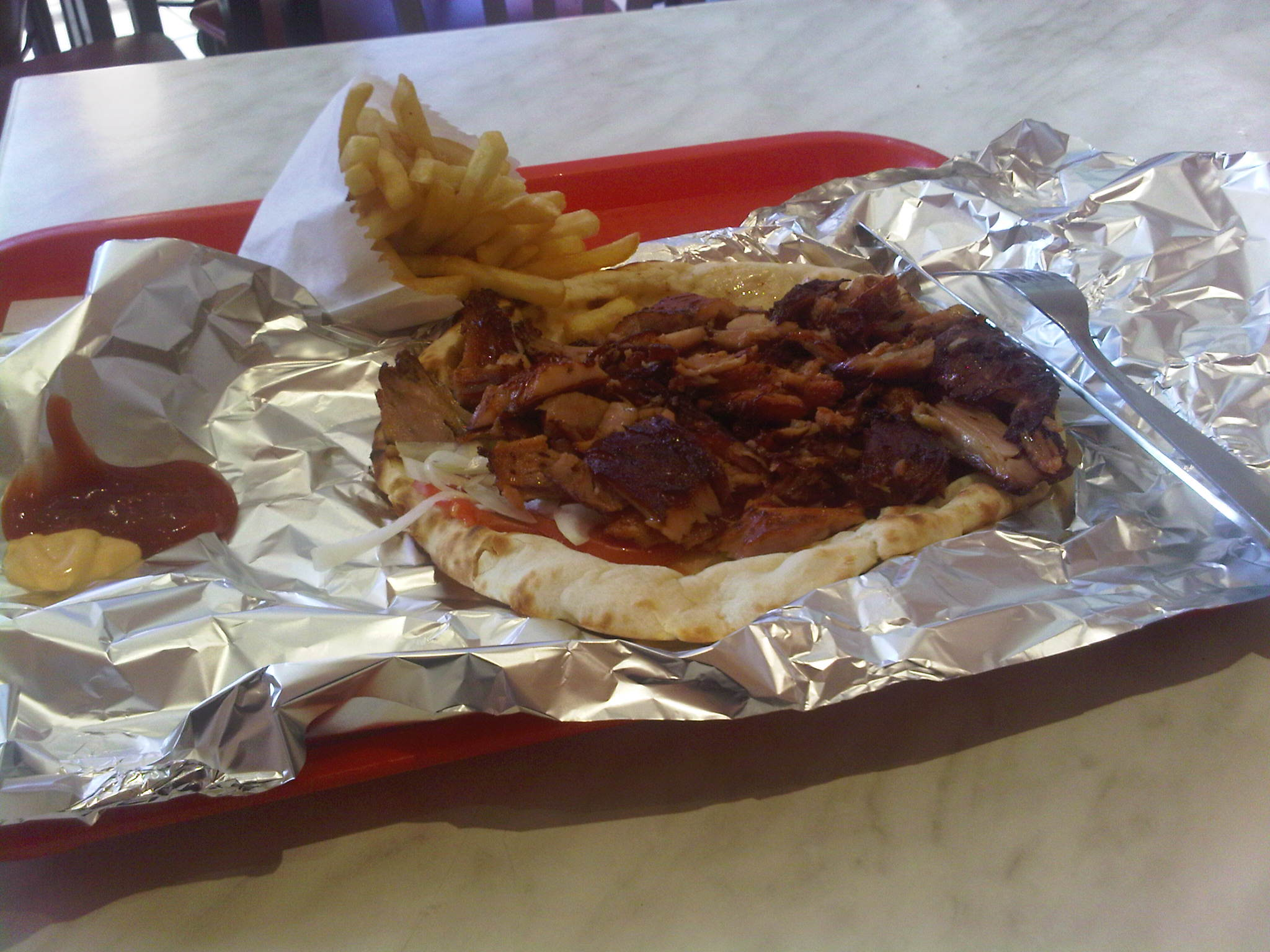 Kebab poulet naan fromage - Paris Fried Chicken Pfc à Paris
