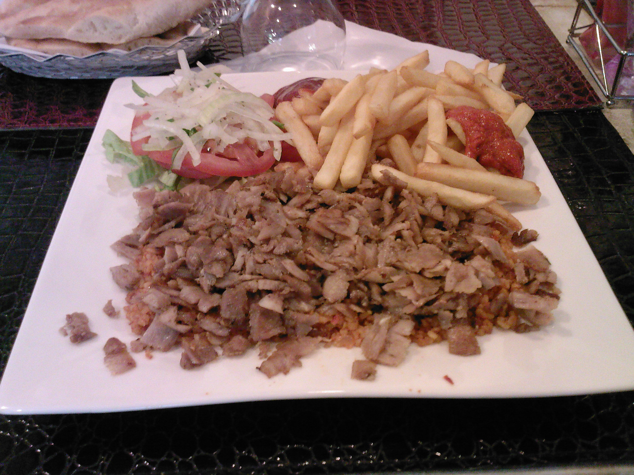 Assiette kebab - Restaurant Sibel à Paris