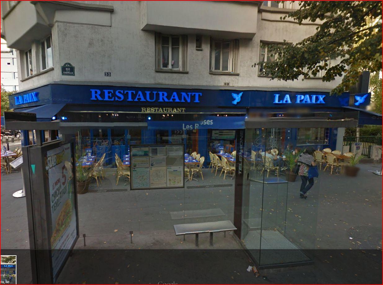 Café Restaurant La Paix à Paris 18