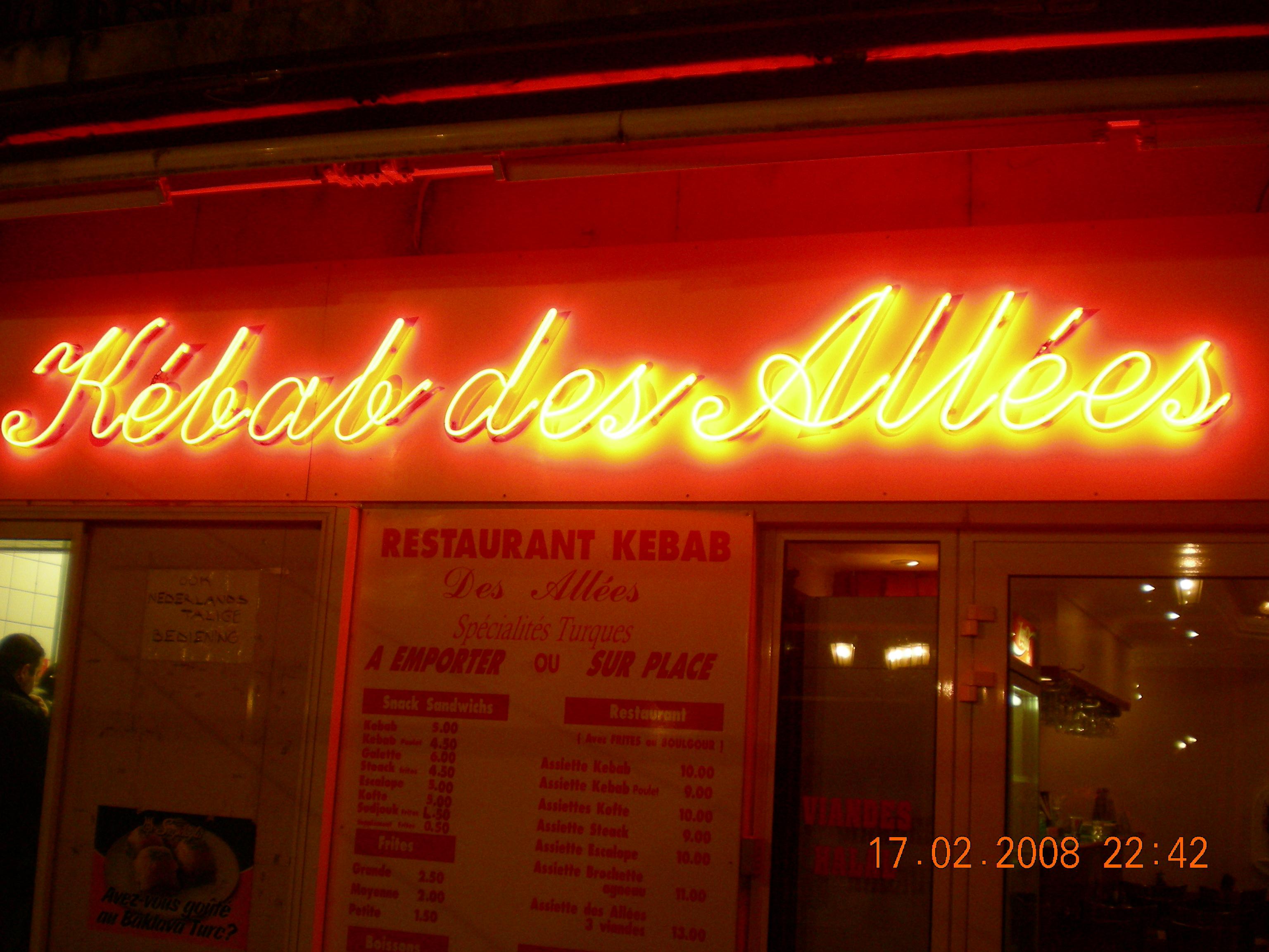 Le kebab des allées