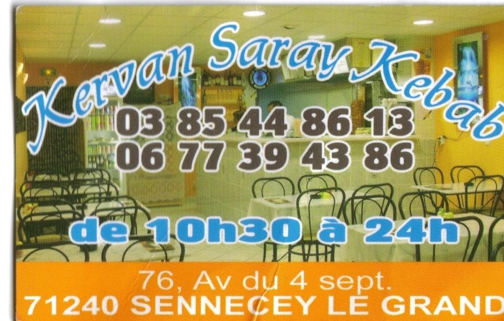 Kervan Saray kebab Sennecey-le-Grand