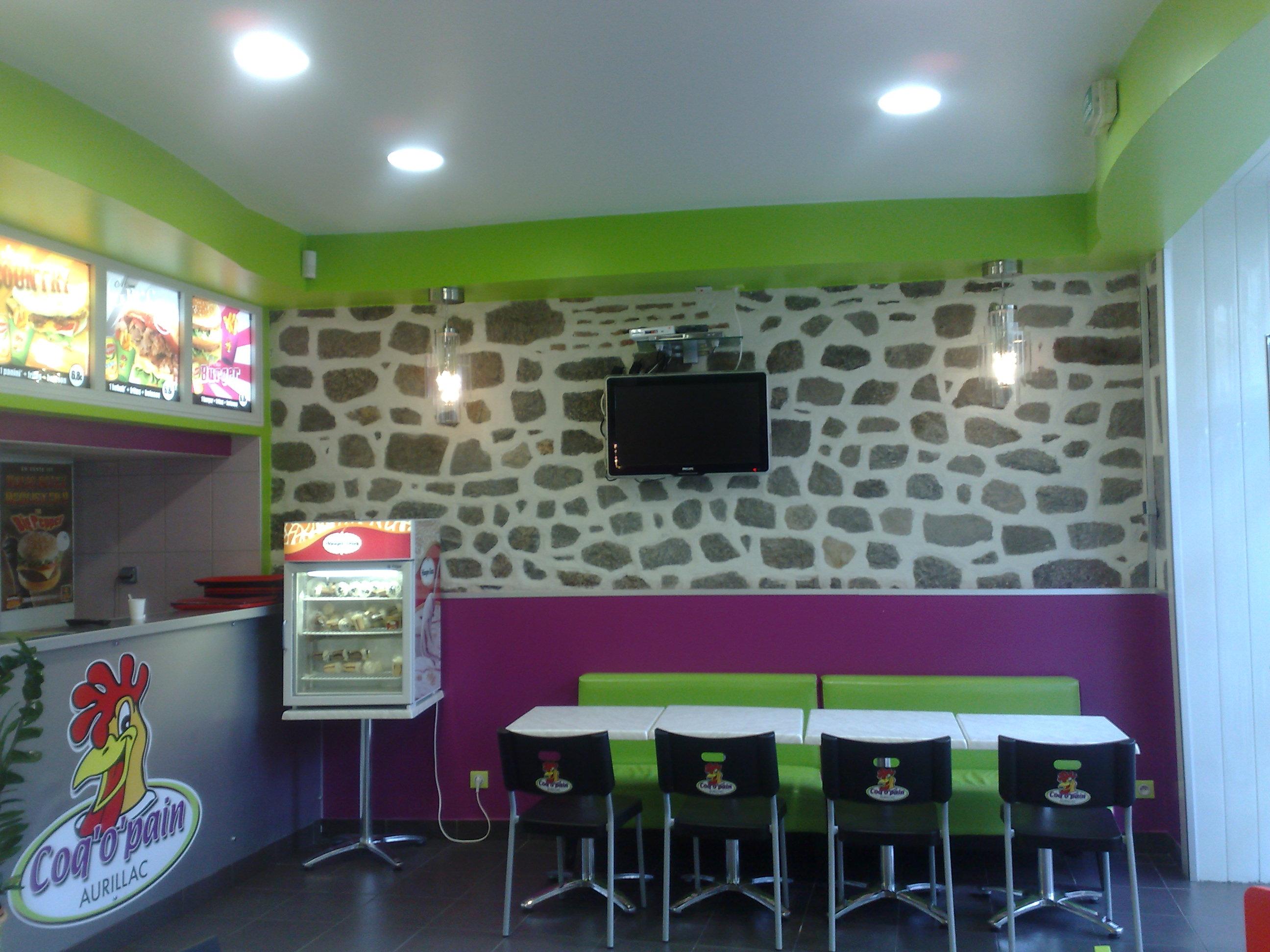 Coq o pain fast food à Aurillac