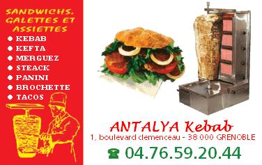 L'antalya Kebab à Grenoble