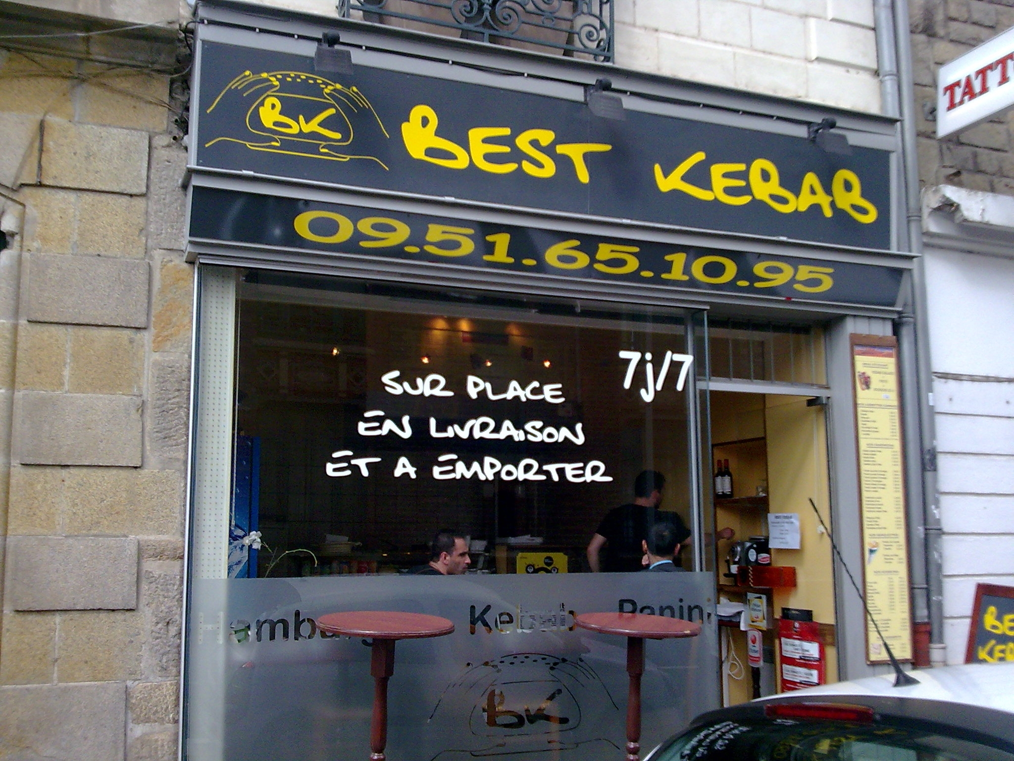 best kebab rennes avis tarifs horaires t l phone. Black Bedroom Furniture Sets. Home Design Ideas