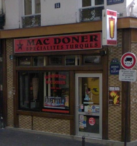 Mac doner à Paris 18