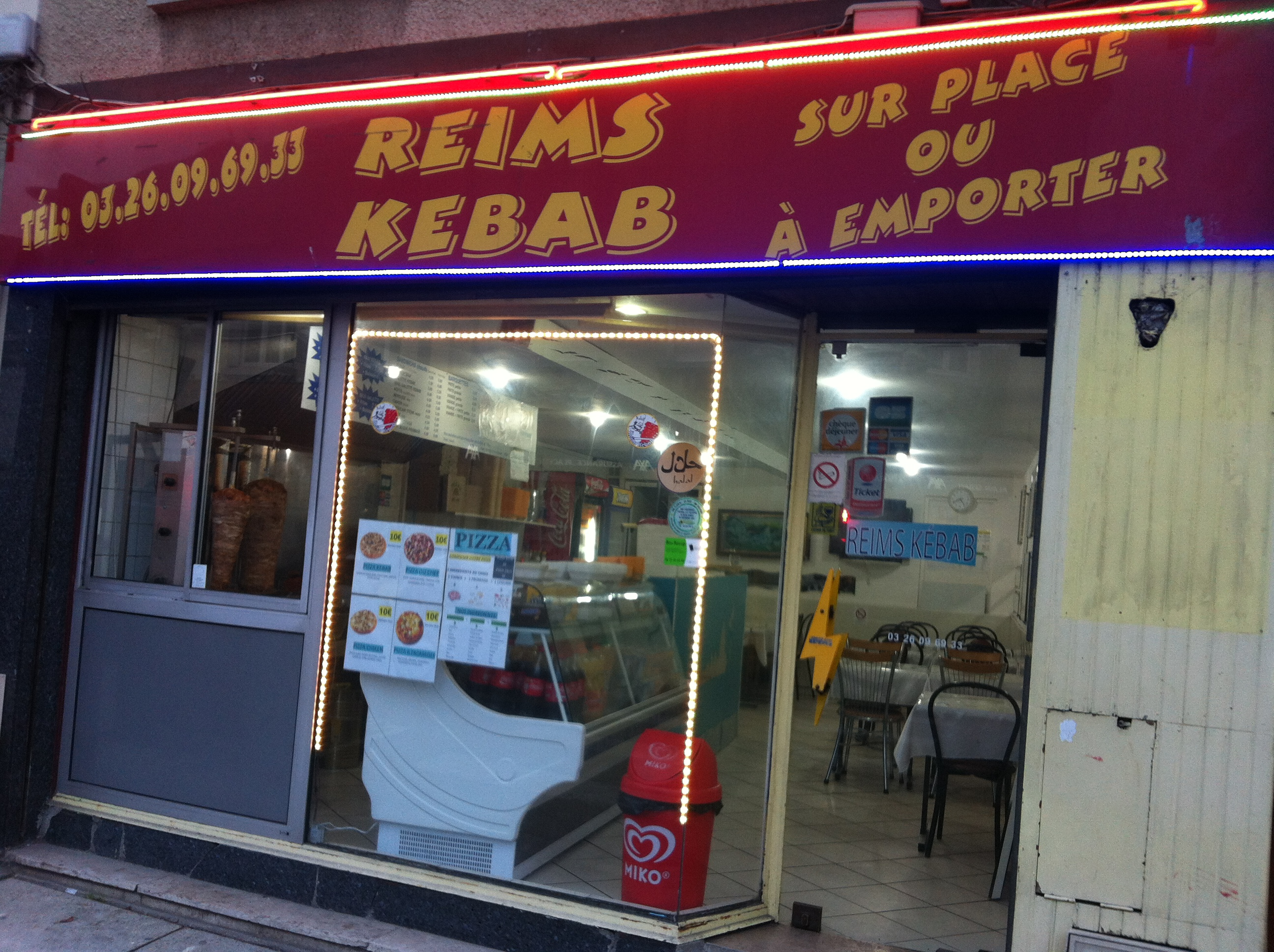 Reims Pizza kebab