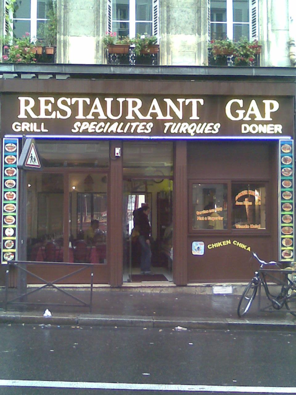 Restaurant GAP - Paris 18