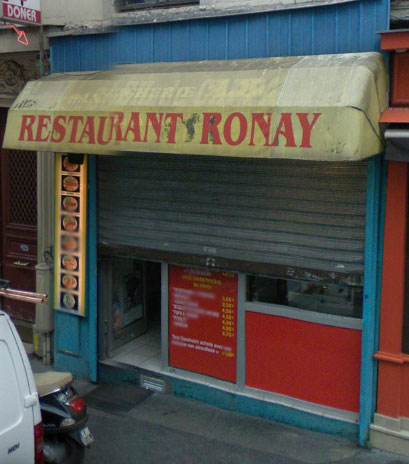 Restaurant Ronay à Paris 11