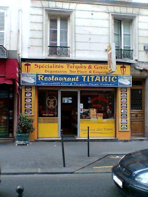 Restaurant Titanic à Paris 14