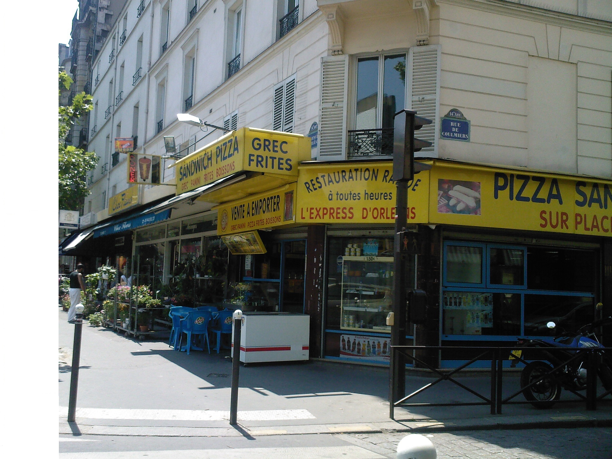 Sandwich Pizza à Paris 14