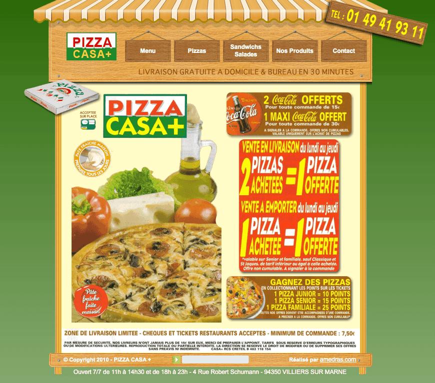 Pizza Casa Plus Villiers-sur-Marne - Avis, Tarifs, Horaires, Téléphone