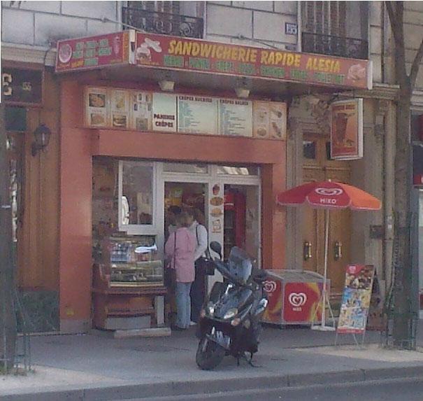 Sandwicherie rapide Alésia