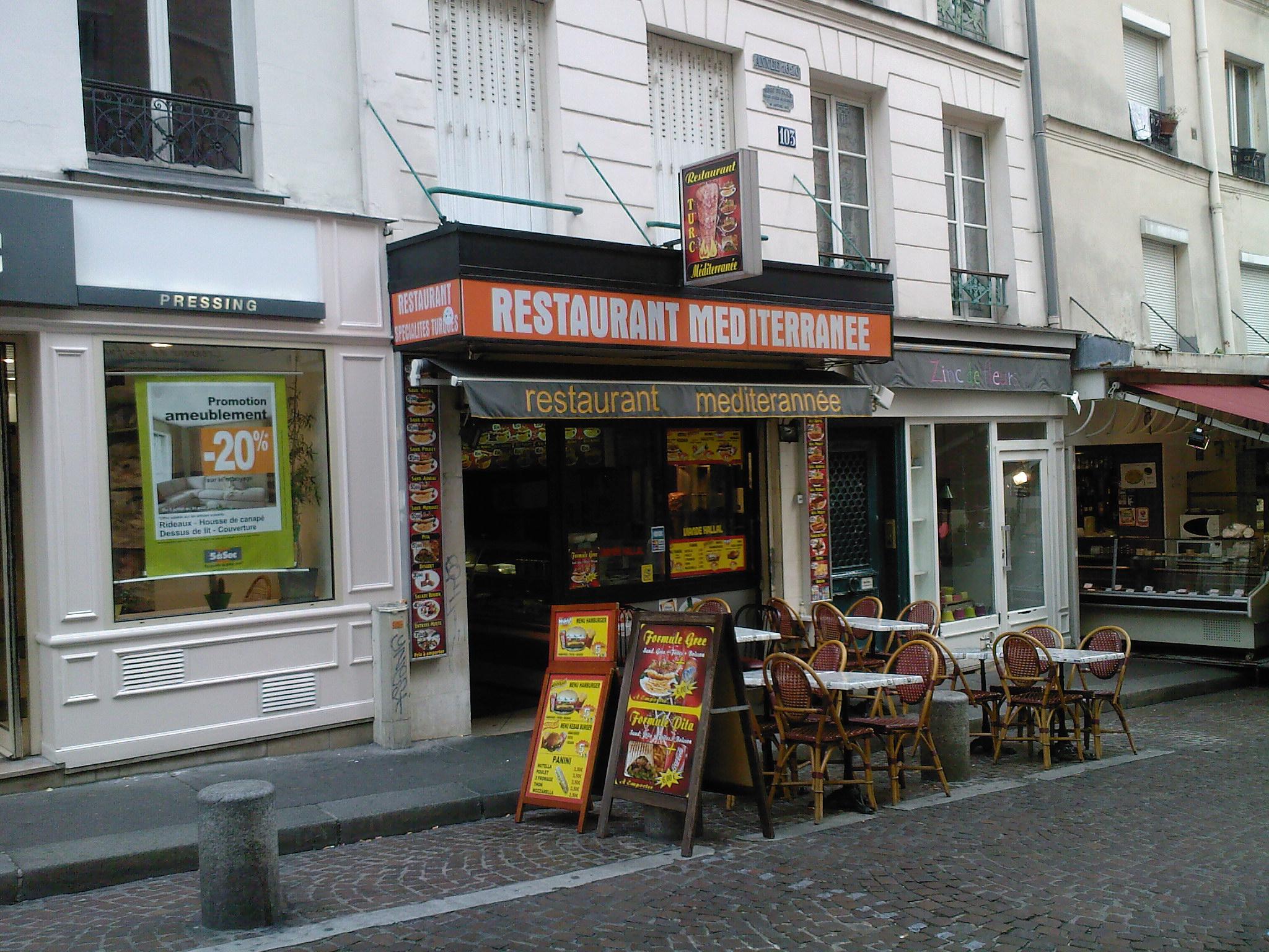 Restaurant Méditerranée - Paris 06