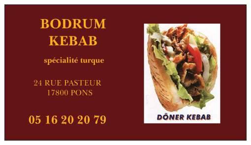 Bodrum Kebab à Pons