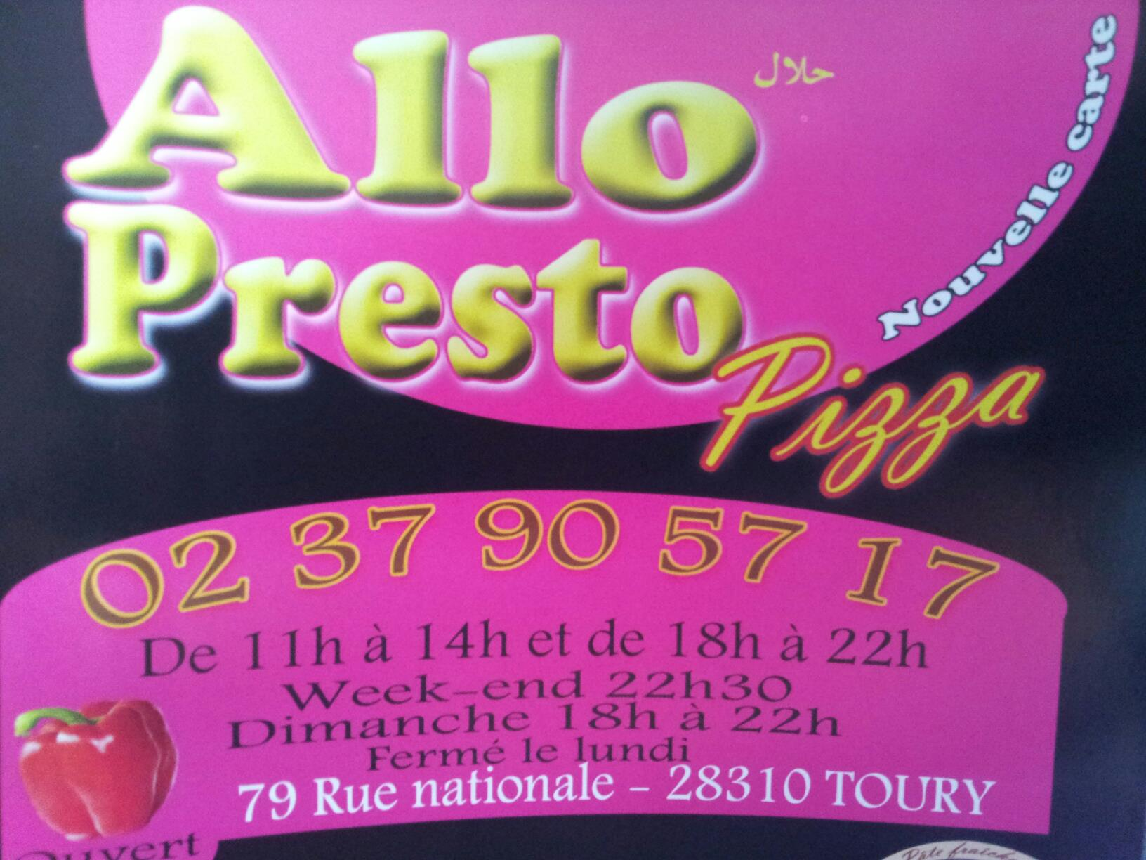 Allo presto pizza à Toury
